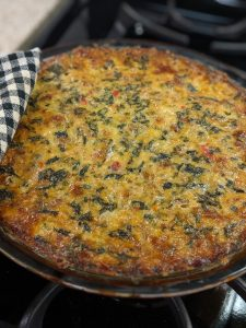 Crustless Hot Pepper and Sausage Quiche - Hot From the Oven