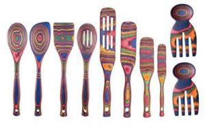 Rainbow Pakkawood Set with Salad Hands
